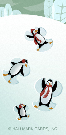 penguin snow angels lg