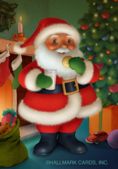 santa in room website