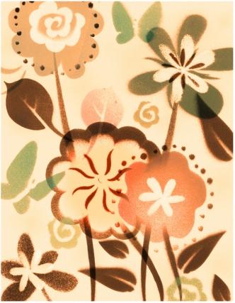 stencil flowerscolor copy
