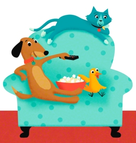 dog cat bird chair