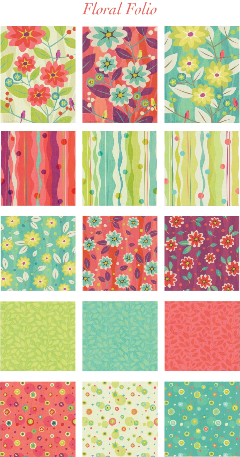 Floral Folio Collection pswd