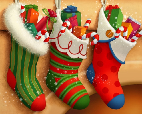 3 xmas stockings